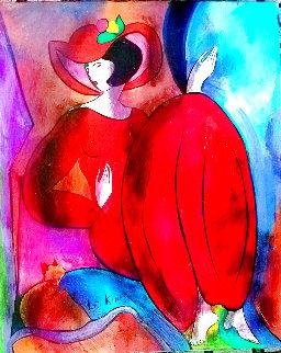 Cosette 2004 18x15 Original Painting - Linda LeKinff