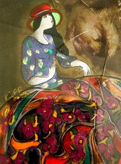 Luna Park 1998 Embellished Limited Edition Print - Linda LeKinff