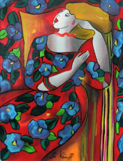 Telema Embellished Limited Edition Print by Linda LeKinff