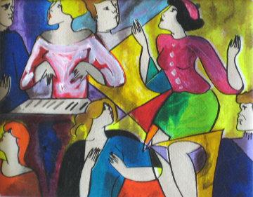 Nous Orans Danser 1998 Embellished Limited Edition Print - Linda LeKinff