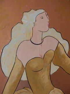 One Swift of the Hip #5 2006 38x28 Original Painting by Linda LeKinff