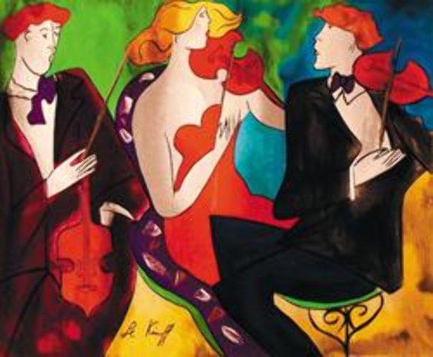 Trio II 2000 Limited Edition Print by Linda LeKinff