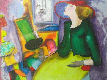 Chapeau Rouge Limited Edition Print by Linda LeKinff