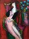 Parme on wood 2001 49x41 Original Painting by Linda LeKinff - 0