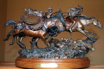 Pursuit Bronze Sculpture 1987 23 in Sculpture by David Lemon