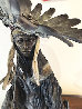 Feathers in the Wind Bronze Sculpture 31x18 Sculpture by David Lemon - 7