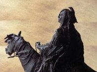 Stalking Bear Bronze Sculpture 1982 23 in Sculpture by David Lemon - 2