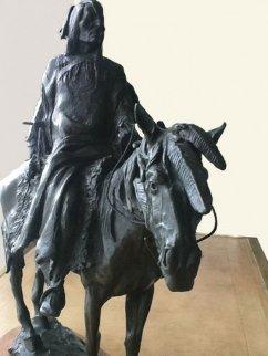 Stalking Bear Bronze Sculpture 1982 Sculpture by David Lemon