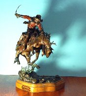 Knothead Ballet Bronze Sculpture 16 in Sculpture by David Lemon - 2