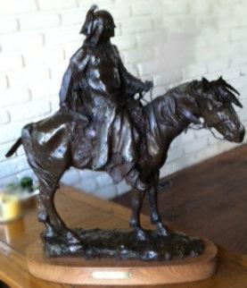 Stalking Bear Bronze Sculpture 1972 24 in Sculpture by David Lemon