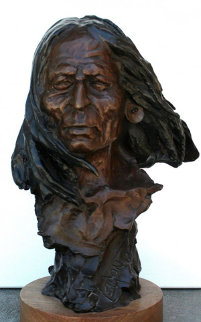 Warrior Bronze Sculpture 14 in Sculpture by David Lemon
