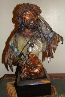 Colter's Escape Bronze Sculpture 1995 Sculpture by David Lemon