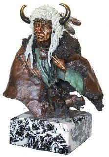 Vacant Thunder Bronze Sculpture 1994 Sculpture by David Lemon