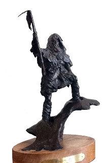 Winter's Bite Bronze Sculpture 15 in Sculpture by David Lemon