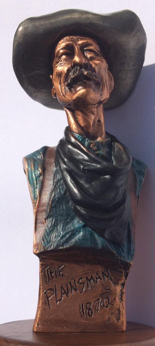 Plainsman 1870 Bronze Sculpture 1995 Sculpture by David Lemon