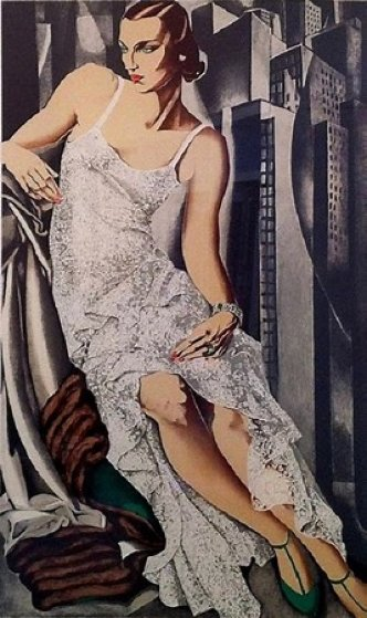 Lady in Lace Limited Edition Print by Tamara de Lempicka