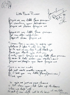 Lyrics: Little Flower Princess 1995 Limited Edition Print - John Lennon