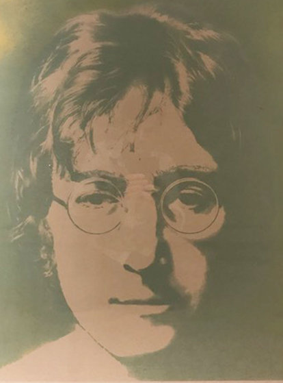 Silk Screened Portrait of John Winston Lennon 1990 Limited Edition Print by John Lennon