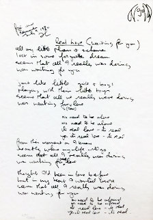 Real Love Lyrics 1995 Limited Edition Print by John Lennon