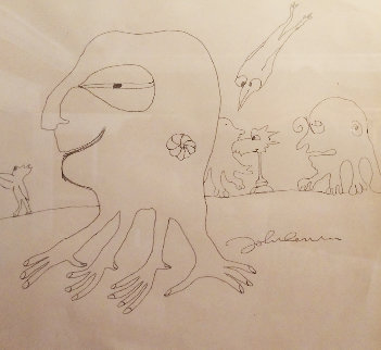 Octopus Garden 1978 28x28 Drawing - John Lennon