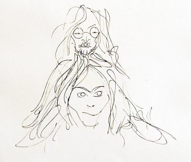 Self Portrait (John and Yoko) 1986 Limited Edition Print by John Lennon