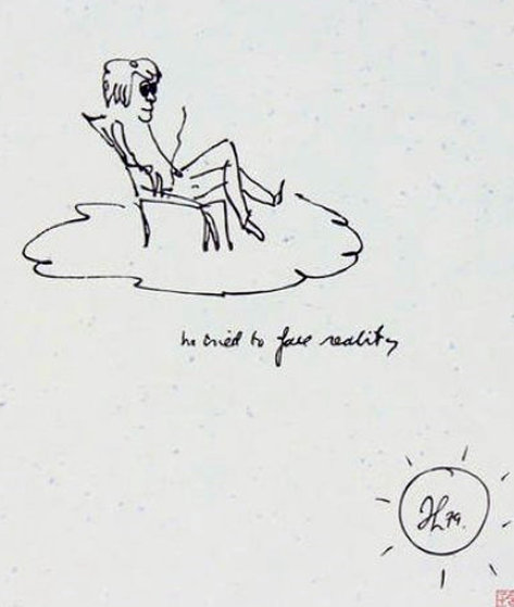 He Tried to Face Reality PP 1998  #1 in the edition Limited Edition Print by John Lennon