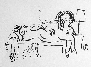 On the Telephone with Family 1976 Limited Edition Print - John Lennon