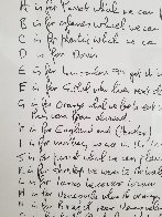 A to Z Poets Page HS Limited Edition Print by John Lennon - 3