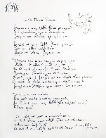 Lyrics: Little Flower Princess Lyrics Limited Edition Print by John Lennon - 0