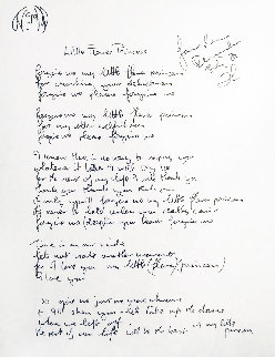 Lyrics: Little Flower Princess Lyrics Limited Edition Print - John Lennon