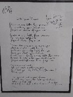 Lyrics: Little Flower Princess Lyrics Limited Edition Print by John Lennon - 1