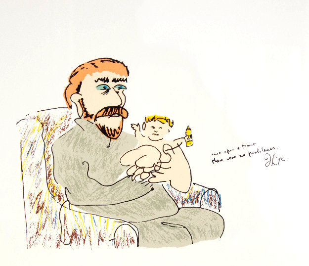 Once Upon a Time From the Edition of 300 23.5 x 24.5  Limited Edition Print by John Lennon