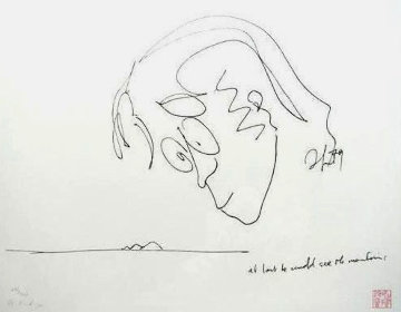 At Last He Could See the Mountain PP Limited Edition Print by John Lennon