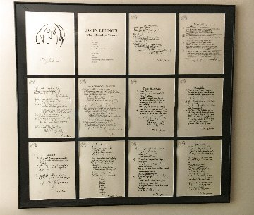 John Lennon the Beatles Years, Set of 12 Lyrics 1995 Limited Edition Print - John Lennon