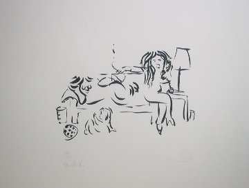 On the Telephone with Family 1996 Limited Edition Print by John Lennon