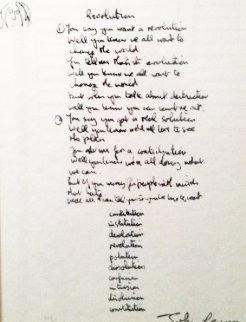 Revolution Lyrics Limited Edition Print by John Lennon