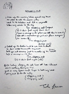 Lyrics: Stepping Out  Limited Edition Print - John Lennon