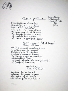 Lyrics: Clean Up Time  Limited Edition Print by John Lennon