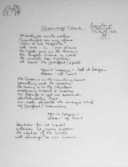 Lyrics: Clean Up Time 1980 Limited Edition Print by John Lennon
