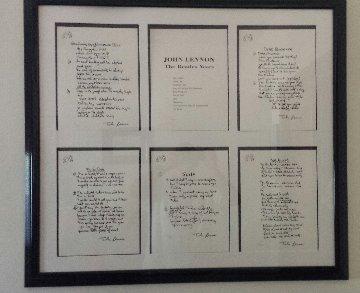 Lyrics: Beatle Years, Set of 12 Lyrics 1995 Limited Edition Print by John Lennon
