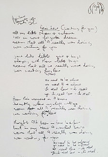 Lyrics: Real Love 1995 Limited Edition Print - John Lennon