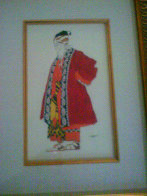 An Old Man in a Red Mantle 1923 Limited Edition Print by Leon Bakst - 1