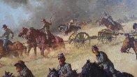 Flying Artillery 47x37 Original Painting by John Leone - 5