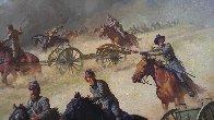 Flying Artillery 47x37 Original Painting by John Leone - 7