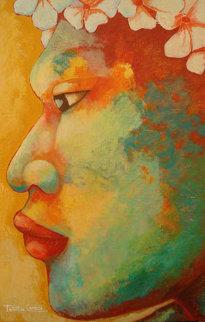 Le Guerrier 2007 45x27 Original Painting - Patricia Leroux