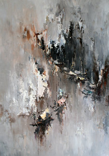 Untitled Painting 1970 27x38 Original Painting by Hong Leung