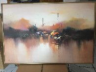 Marine 1976 24x36 Original Painting by Hong Leung - 1