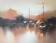 Marine 1976 24x36 Original Painting by Hong Leung - 0