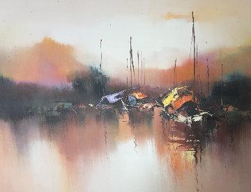 Marine 1976 24x36 Original Painting - Hong Leung