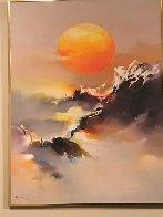 Marine 1976 24x36 Original Painting by Hong Leung - 2